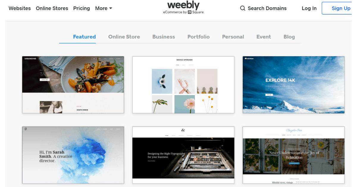 Weebly: trascina e rilascia il builder di siti web