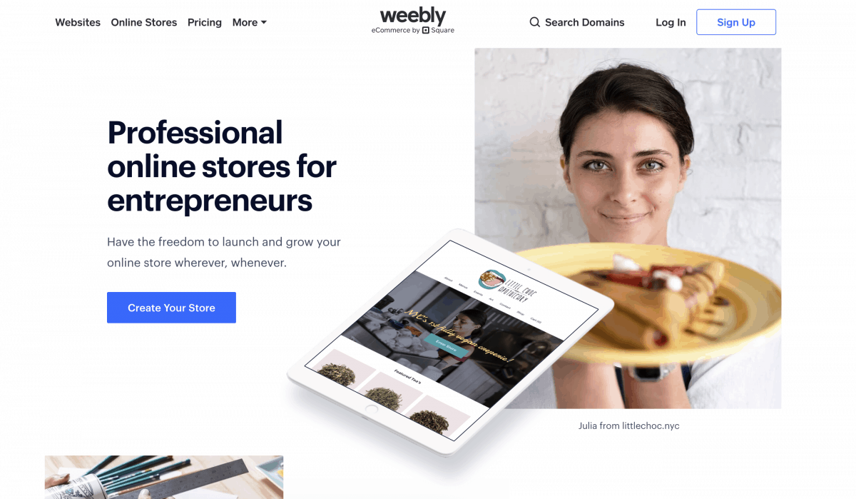 Weebly e-commerce