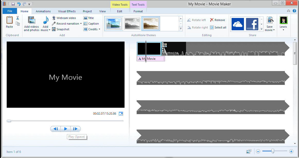 Windows Movie Maker - Video Editing Software