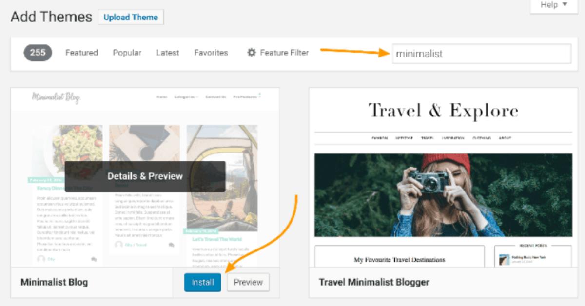 WordPress - Theme Installation Option 1