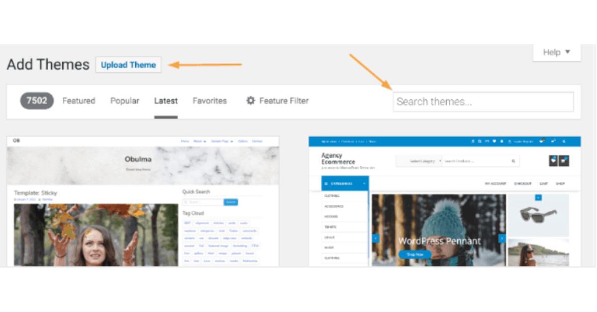 WordPress - Theme Installation