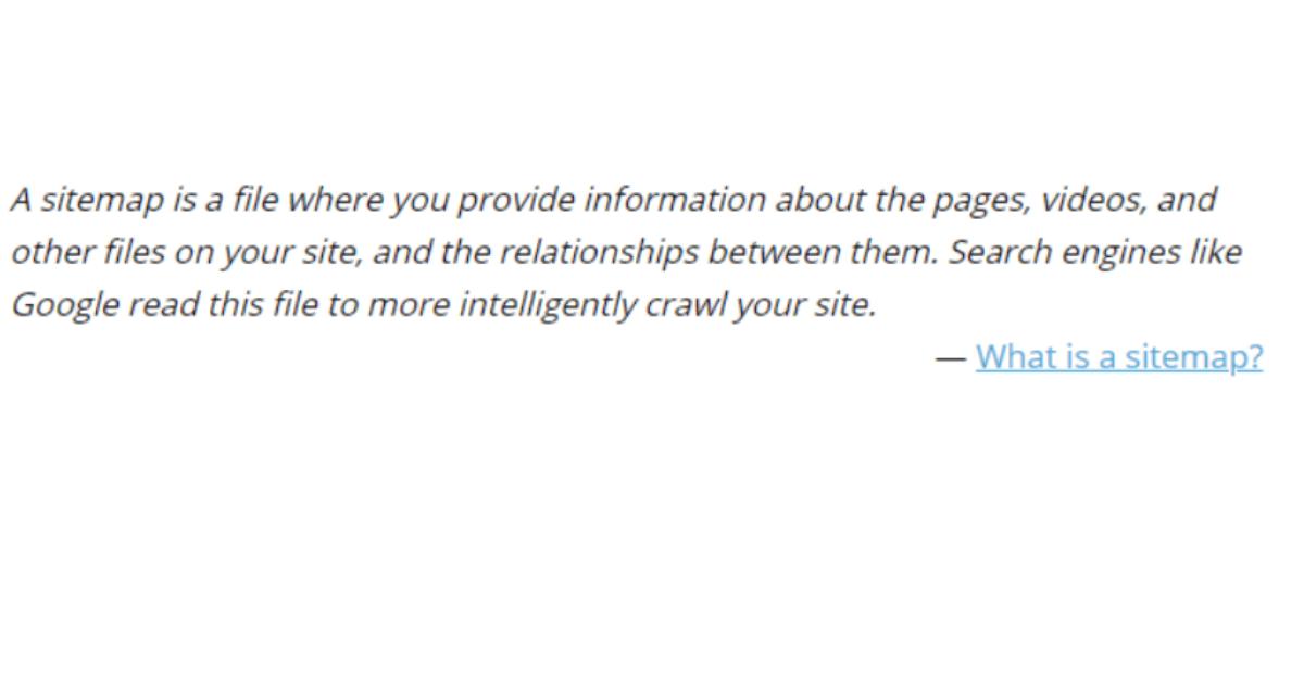 XML Sitemap - Definition