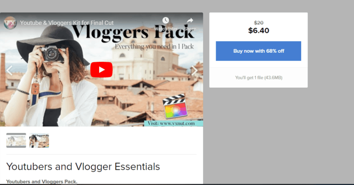 Youtube - Selling Kits for Bloggers