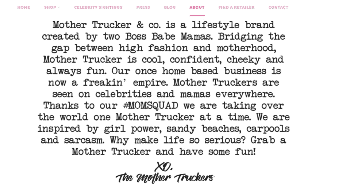 About Mother Trucker