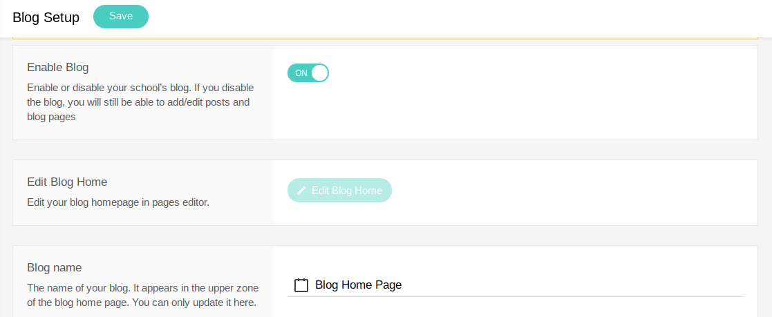Add Blogging Functionality Screenshot