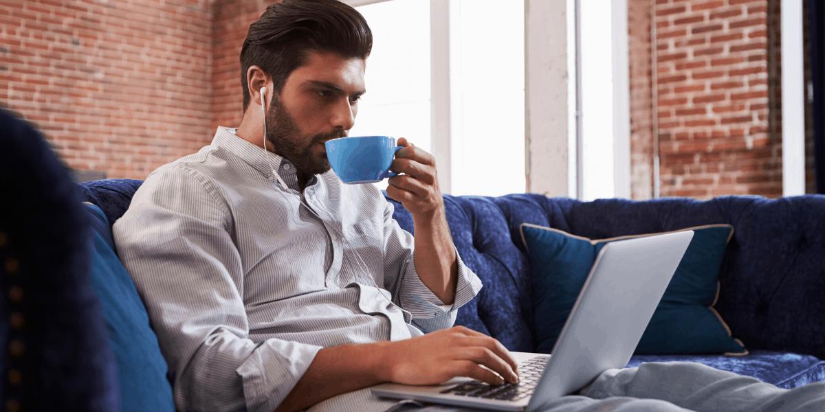App e tester del sito Web sul divano