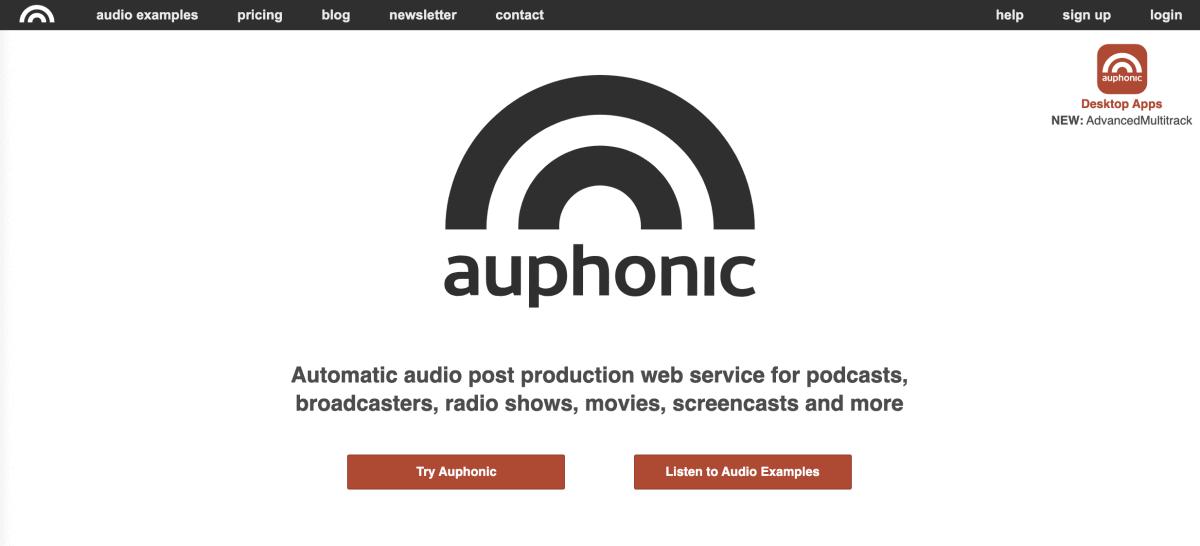 Auphonic Podcast Hosting