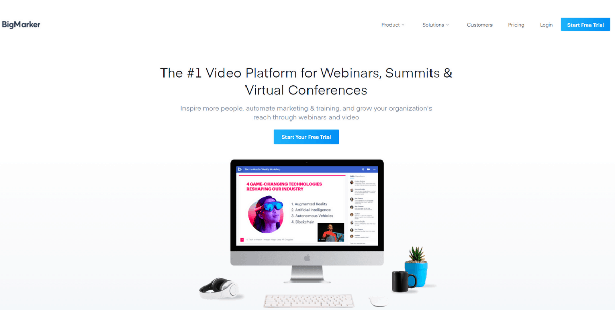 BigMarker - Virtual Conferences and Summits