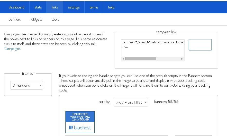 Bluehost Affiliate Links