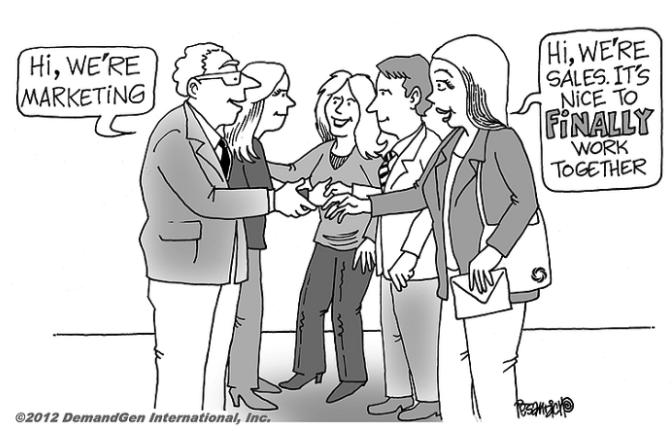 Cartoon Marketing and sales