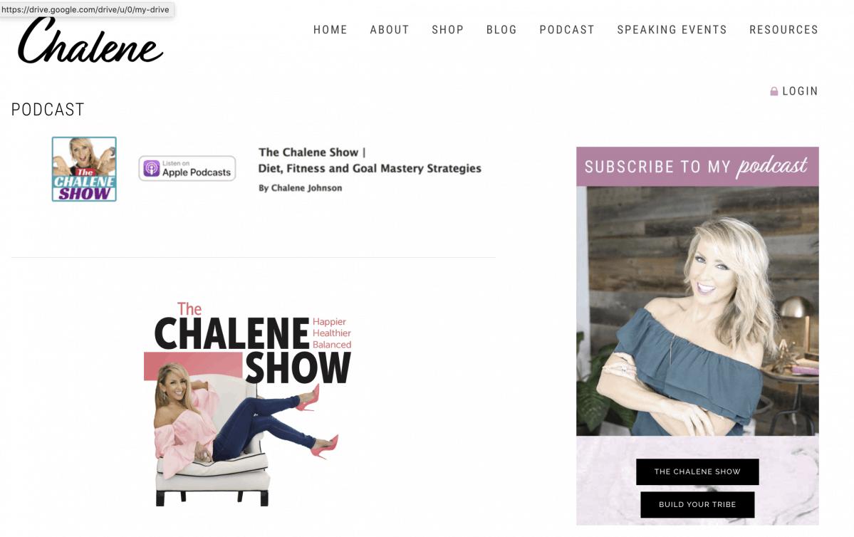 Podcaster Chalene Johnson Show