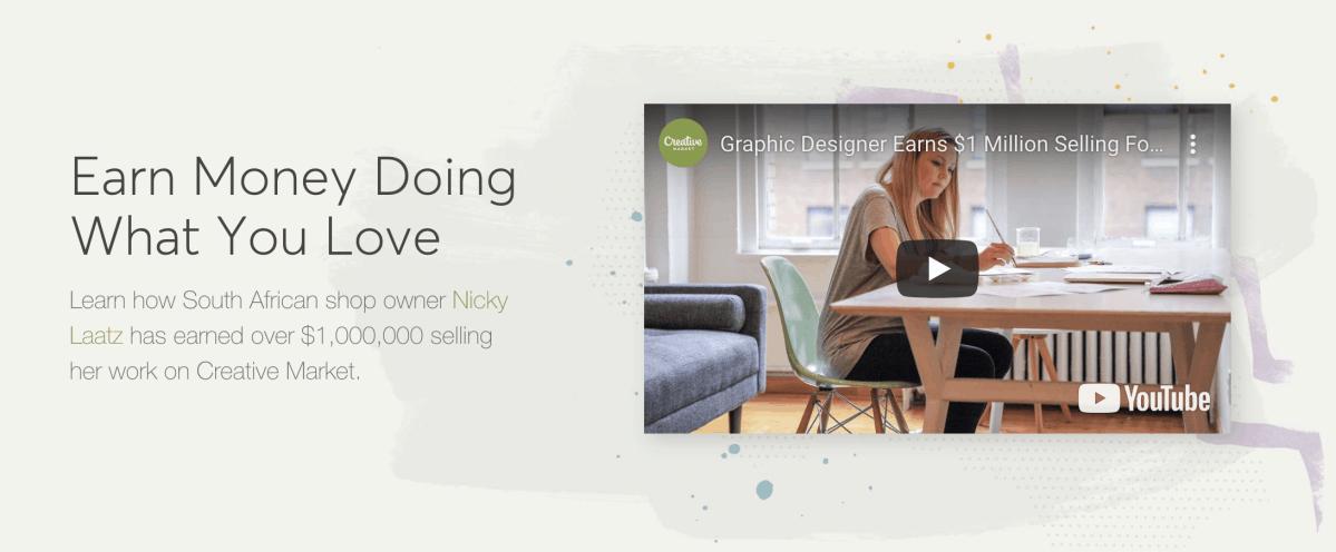 Creative Market - Do what you love earn money