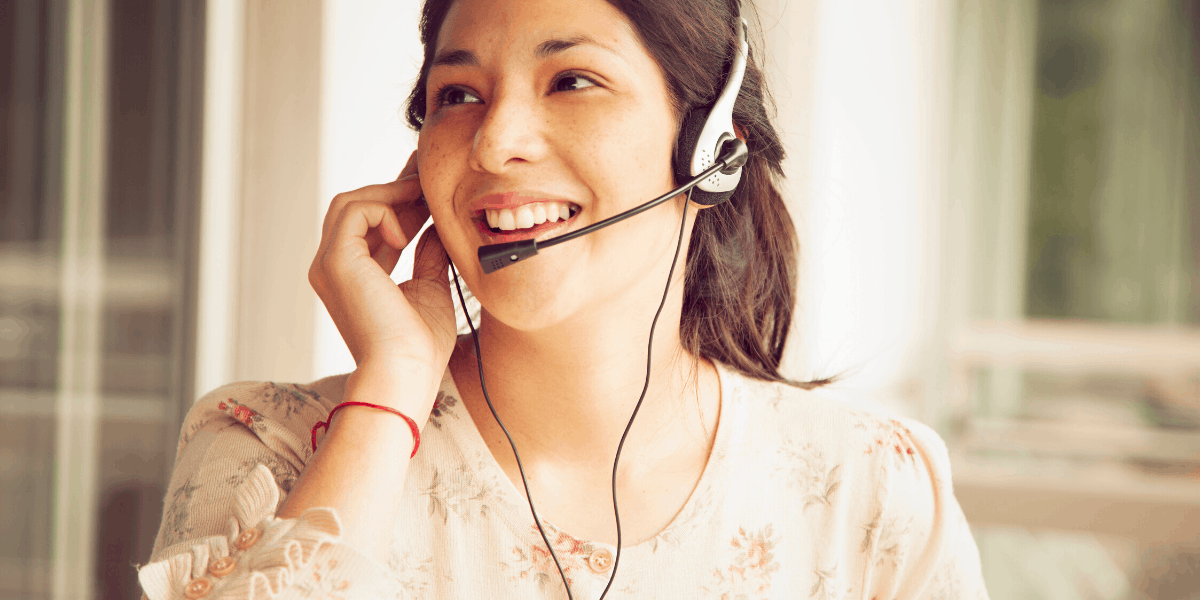 Customer Sales Representative from Home with Headset