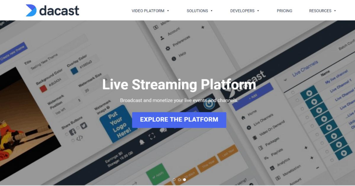 dacast - Live Streaming Platform