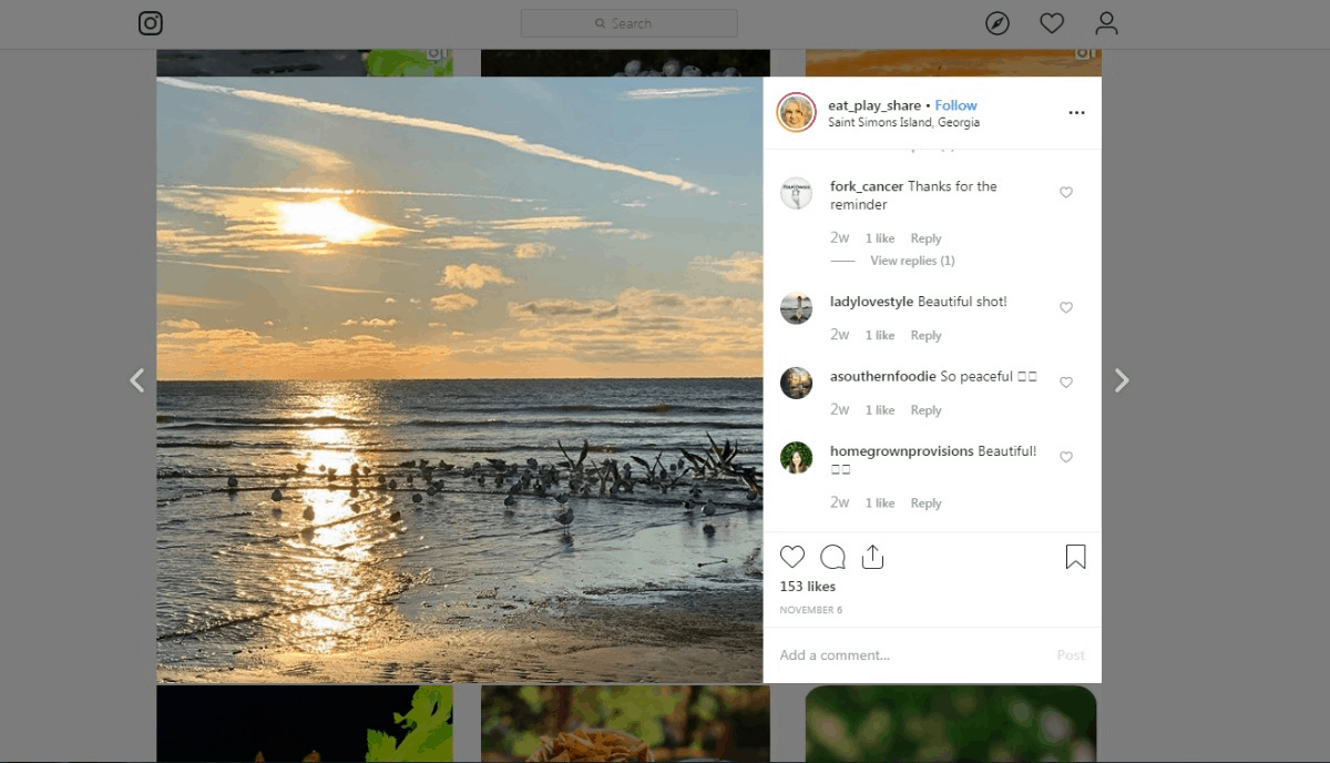 Eatplayshare Instagram Sunset Photo