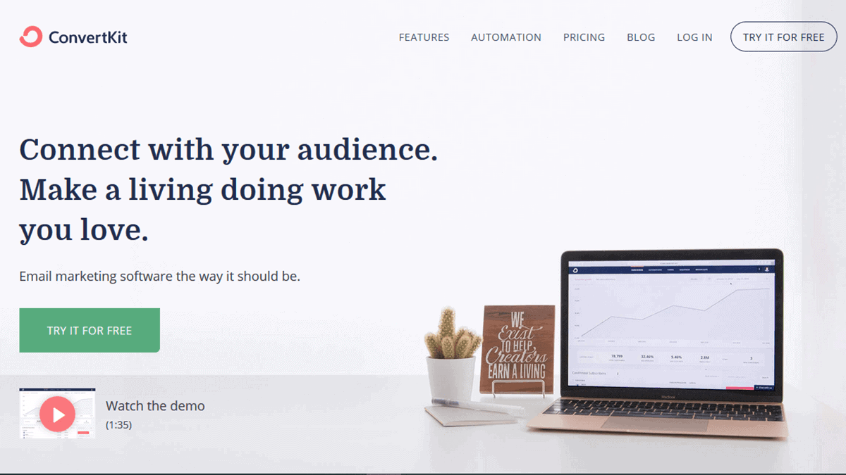 Convertkit Email Marketing per i blogger