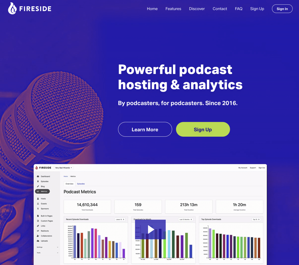 Fireside.fm Podcast Hosting