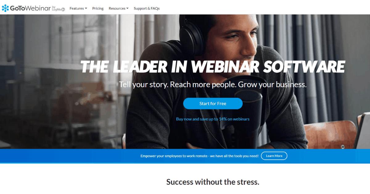 GoToWebinar - Platform for Large Businesses