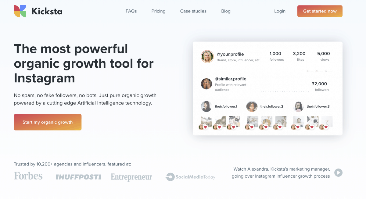 Kicksta - Instagram - Growth Tool