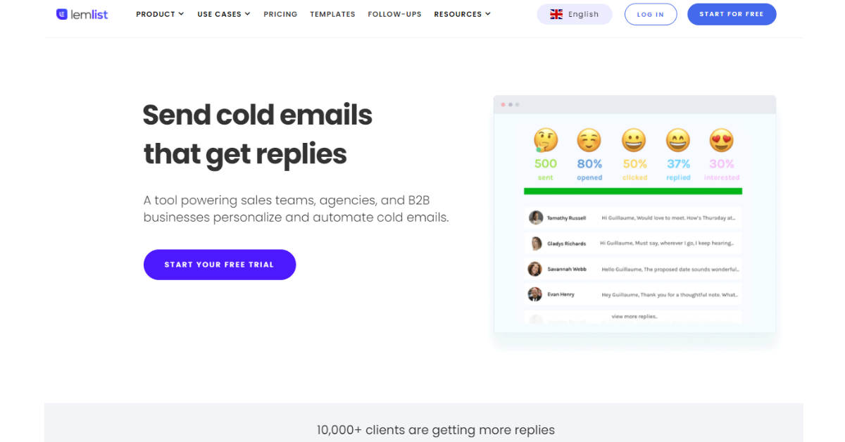 Lemlist - Cold emails that Get Replies