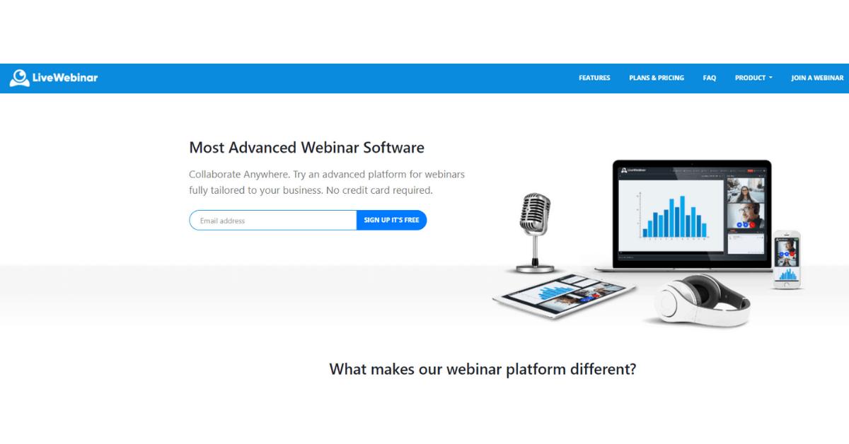 LiveWebinar - Most Advanced Software