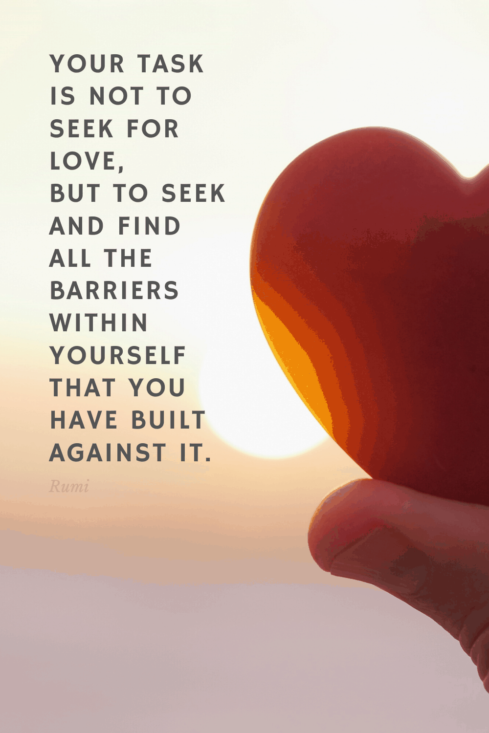 Find your barriers against love