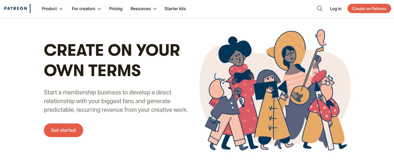 Patreon Home - Ways How to Make Money Online