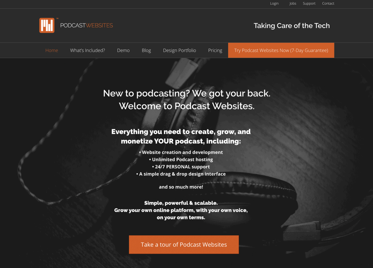 Podcast Websites Screenshot