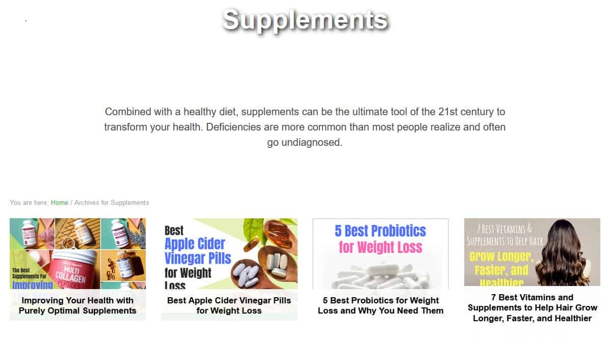 Private Label Supplement Example