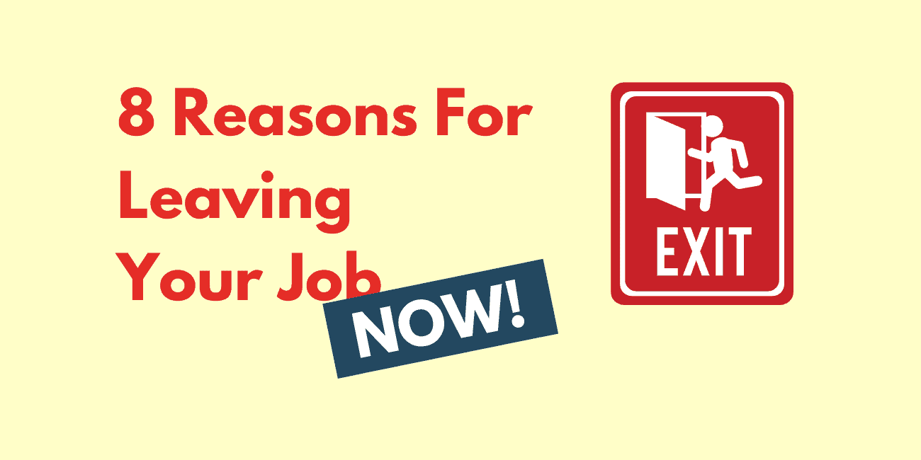 Reasons to Leave Job