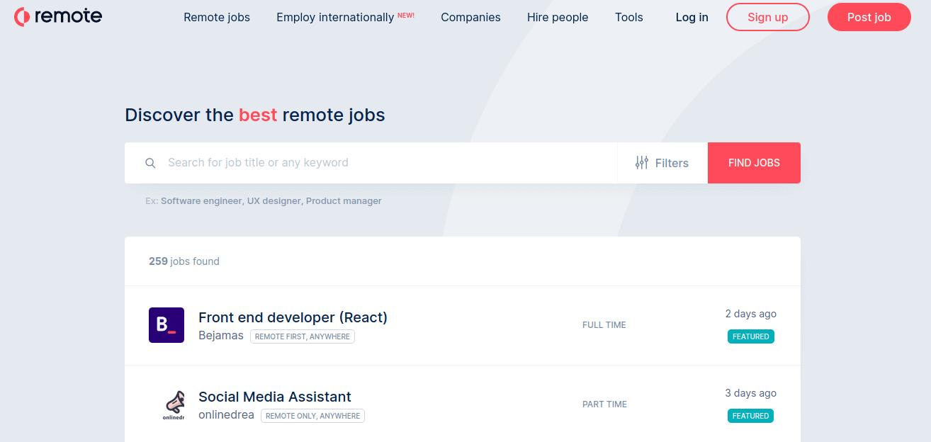 Remote Job Work Remotely