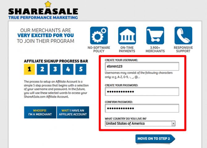 Shareasale Affiliate Register