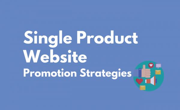 Single Product Website Promotion