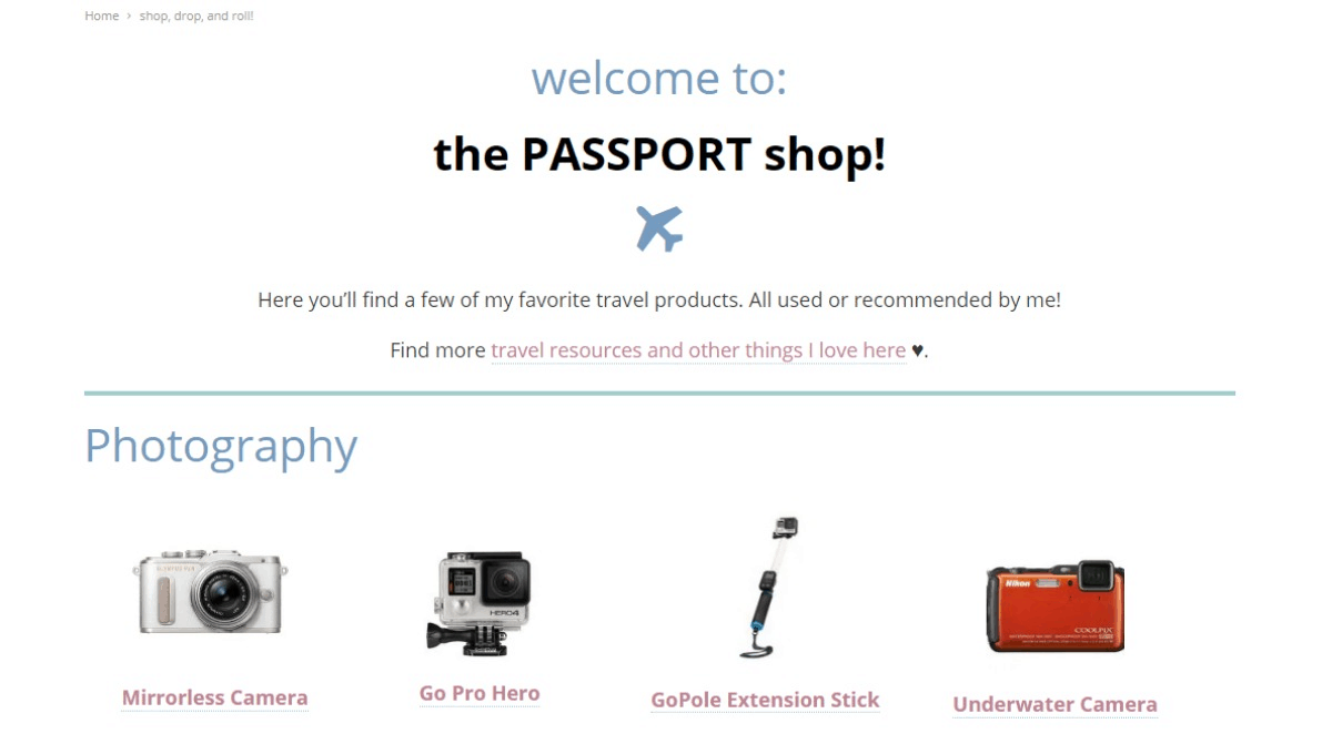 The Passport Shop Travel Products