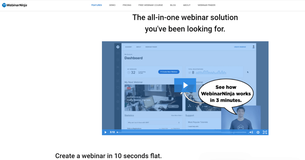 WebinarNinja - Best all-in-one Webinar Software