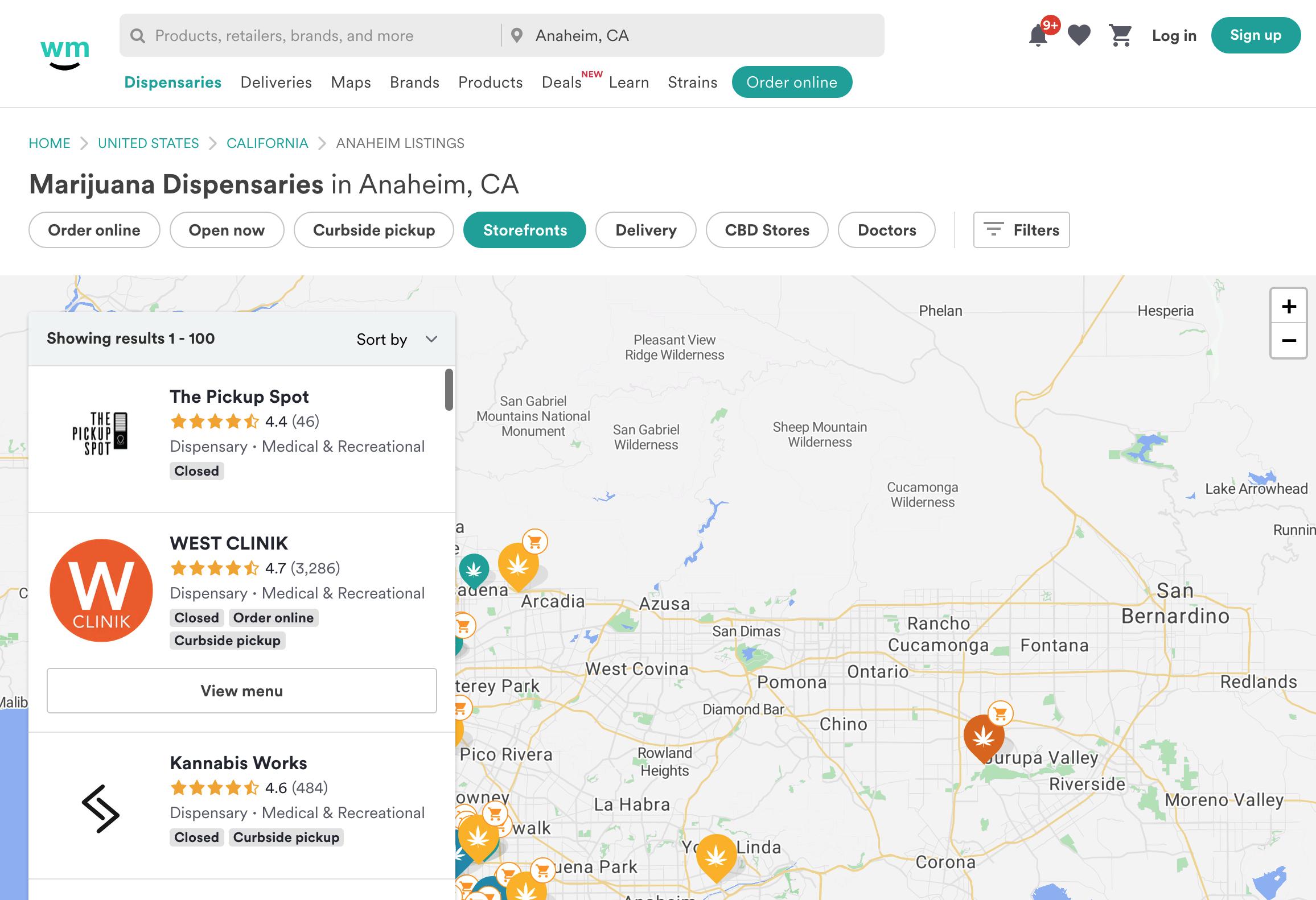 Weedmaps Screenshot