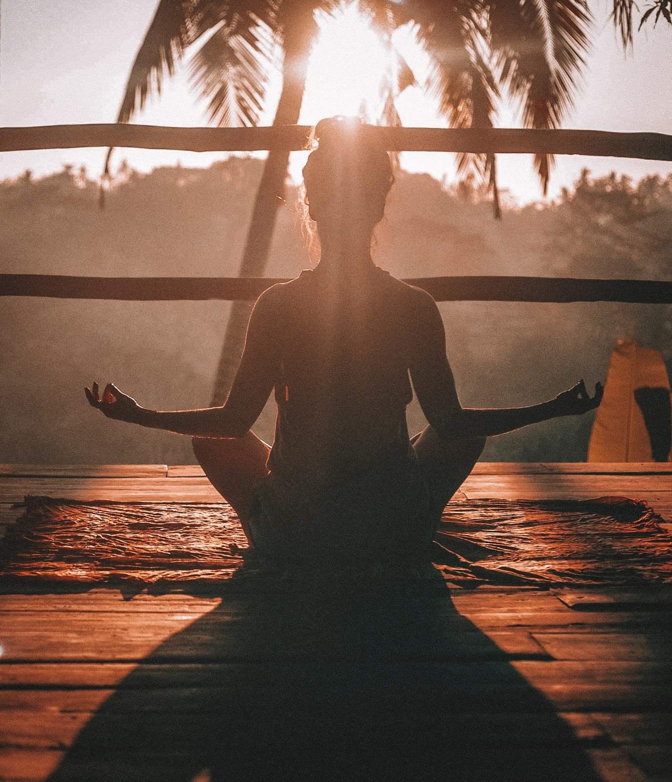 woman meditating yoga