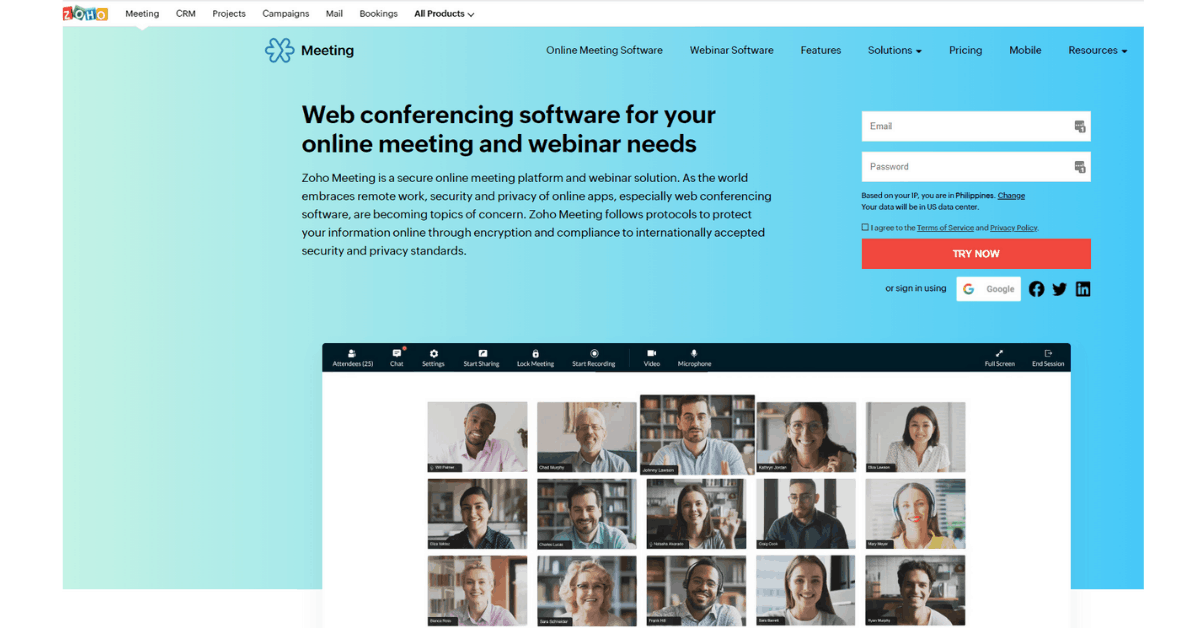 Zoho Meetings - Web Conferencing Tool
